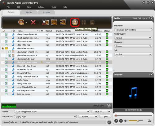 ImTOO Audio Converter Pro - Convert