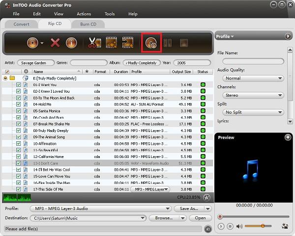 Convert CDA to MP3
