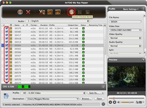 ImTOO Blu Ray Converter for Mac Guide - Convert