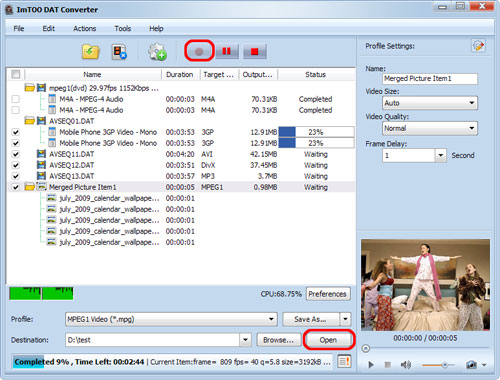 How to convert DAT videos with ImTOO DAT Converter