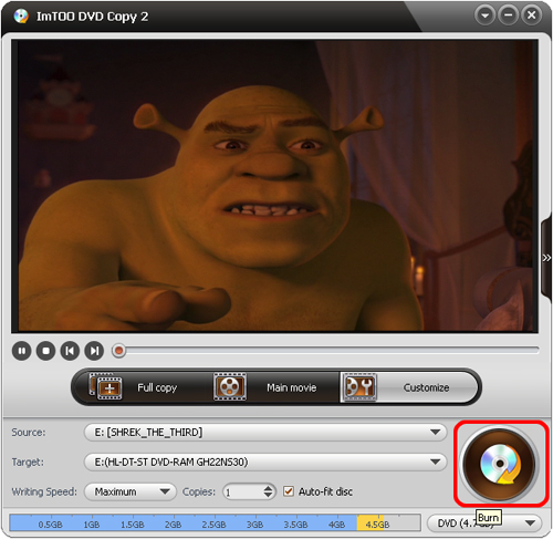 copy DVD to iso image