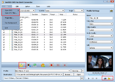 ImTOO DVD to DivX Converter Guide - Add DVD