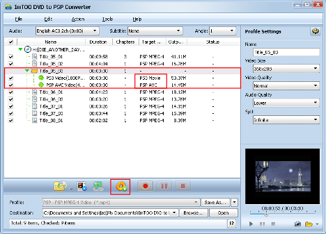 ImTOO DVD to PSP Converter Guide - Add a new profile