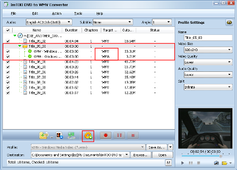 ImTOO DVD to WMV Converter Guide - Add a new profile