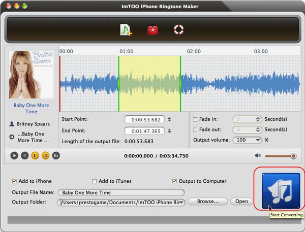 ImTOO iPhone Ringtone Maker for Mac