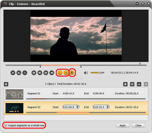 ImTOO Video Converter Ultimate - Clip