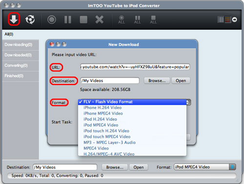 ImTOO YouTube to iPod Converter for Mac