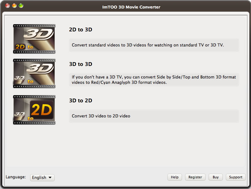 ImTOO 3D Movie Converter for Mac