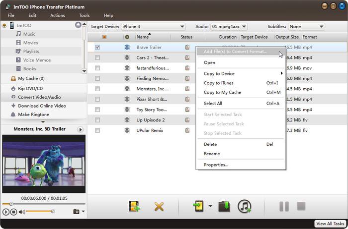 iPhone Transfer Platinum: Transfer Movies/Music/PICs/eBooks