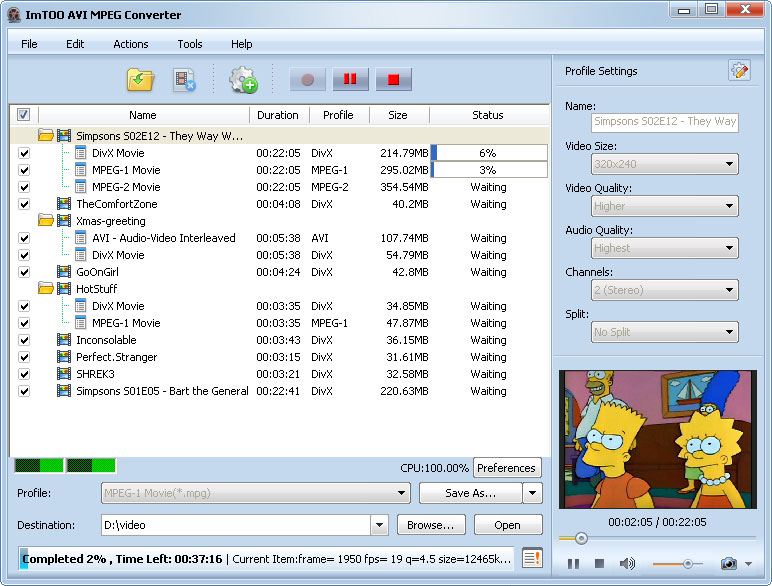 التعريب ImTOO MPEG Converter الفيديو avi-mpeg-converter-s